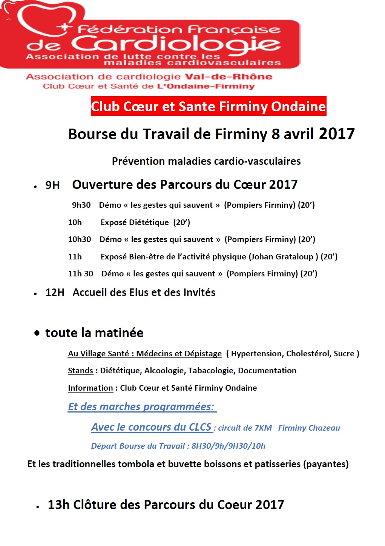 Planning parcours coeur 2017